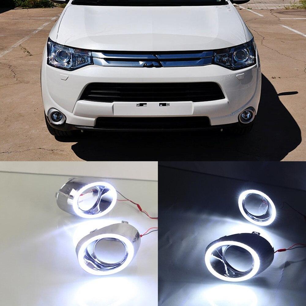 CSCSNL 1 set For Mitsubishi Outlander 2013 2014 2015 LED DRL Daytime driving Running Lights Daylight