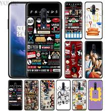 Best Friends TV Show Forever Phone Case for Oneplus 7 7Pro 6 6T Oneplus 7 Pro 6T Black Silicone Soft Case Cover
