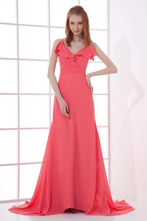 Robe Demoiselle D Honneur Sexy V Neck Spaghetti Straps Bridesmaid Dresses 2018 Open Back Rose Pink
