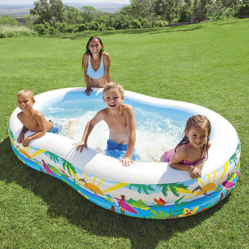 262*160*46cm Lovely Baby Playground Inflatable Swimming Water Pool WaterMarine Thick PVC Playground Piscina Bebe Zwembad A204 dual slide portable baby swimming pool pvc inflatable pool babies child eco friendly piscina transparent infant swimming pools