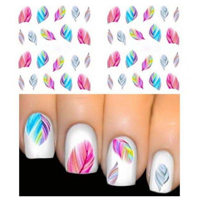 Aliexpress Buy 1sheet Hot Feather Nail Art Water Stickers