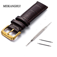 Straps 18 19 20 22 23 24mm Calf Skin Genuine Leather Watch Band With Watch Stainless Steel black Buckle For Panerai Watch Strap
