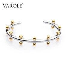 Varole noeud braçadeira de ouro cor pulseira manchette pulseiras de metal contas manguito pulseiras & bangle para jóias femininas pulseiras