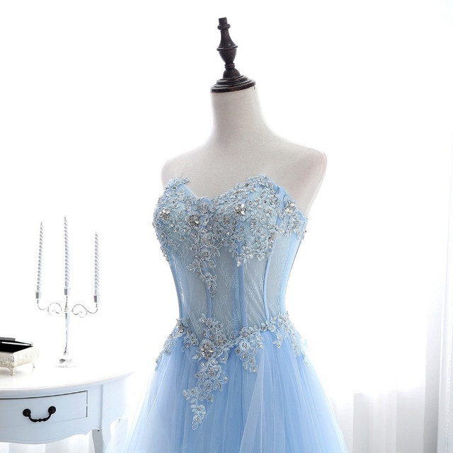 Купить роскошные светильник голубые длинные вечерние платья без рукавов картинки