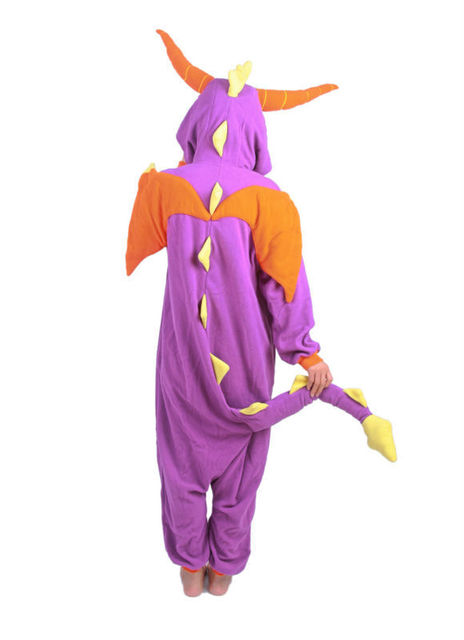 New Spyro Dragon Cute Pajamas Anime Cosplay Pyjamas Costume Hoodies Adult Onesie Sleepwear Dress,All Sizes S M L XL