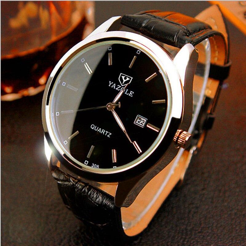 YAZOLE Brand Men Watch Top Brand Calendars Fashion Luxury Famous Male Clock Business Luminous Quartz watch