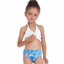 2019 Girl Swimsuit Two Pieces Childrens Swimwear Swim Suits Children Split Hollow Falbala Bikini Sets Bathing Suit AA315