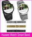 2015 новый серебряный черное золото 20 мм ссылка браслет метал группы для Huawei смартфон часы с 2 шатун и инструмент для демонтажа