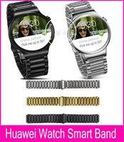 2015 New argent noir or 20 mm lien Bracelet bande de métal pour Huawei montre Smart Watch avec 2 bielle et démontage outil