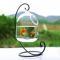 Прозрачное PETFORU 15 см Высота подвесное стекло аквариума для рыб аквариум в виде чаши цветок ваза для цветов с 23 см высота белый стеллаж рыбные...