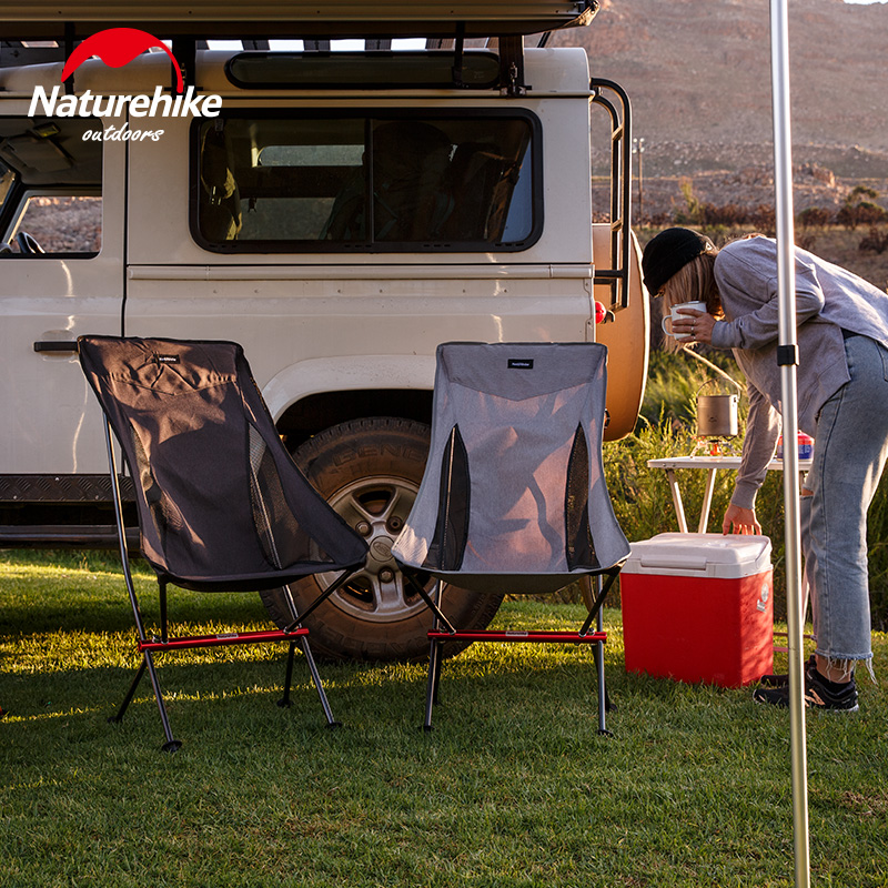 Chaise de pique-nique pliante en aluminium compacte robuste naturetrekking en plein air chaise de plage de pêche légère chaise de Camping pliable - 6