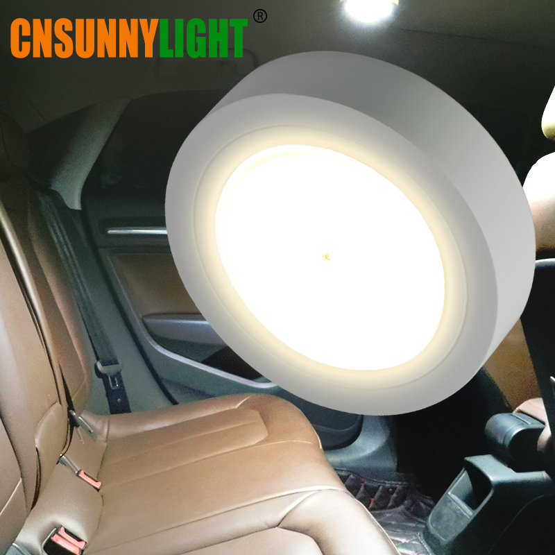 CNSUNNYLIGHT LED Car Reading Light Interior Luggage Door Lamp Free Refit Portable Emergency Light For Car/Home/Office/Bedroom cnsunnylight led car reading light interior luggage door lamp free refit portable emergency light for car home office bedroom
