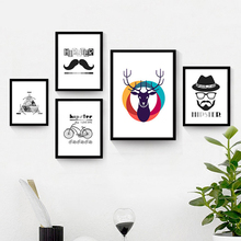 The living room decorative painting modern minimalist mural paintings in black and white fashion personality small fresh p