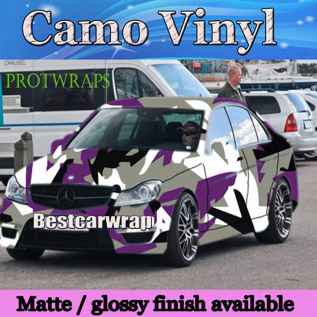 c7acda6df8 Large Spots arctic Purple Camouflage VINYL Car Wrap Film Wrapping Foile  With Air Bubble Free PROTWRAPS Covering 1.52x30m Roll