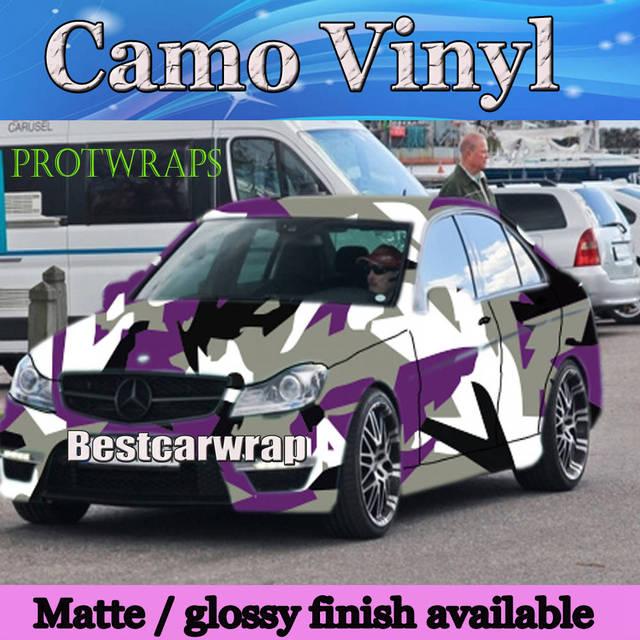 01c0d265fb Large Spots arctic Purple Camouflage VINYL Car Wrap Film Wrapping Foile  With Air Bubble Free PROTWRAPS Covering 1.52x30m Roll