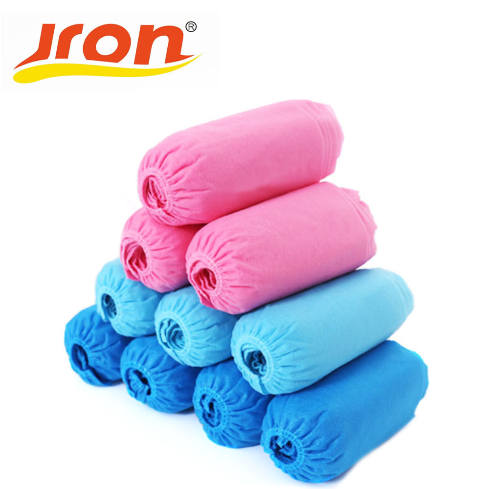 Jron 100 Pieces Disposable Shoe Covers Factory Wholesale Cheap Shoes Floor Overshoes Indoor Shoes Covers For Ladies And Mens