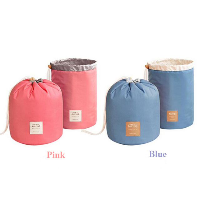 Waterproof Drawstring Cylinder Toiletry/Cosmetic Wash Bag