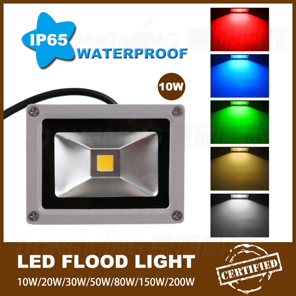 New 35pcs/lot RGB DC 12 Volt Led Flood Light 10w Best Price Rechargeable Led