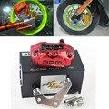 18000RPM ЧПУ Мотоцикл Скутер Тормозные Суппорты + 200 мм/220 мм Дисковый Тормоз Насос Адаптер Кронштейн Для Yamaha Aerox нитро RSZ JOG BWS Зума