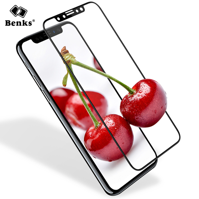 Benks For iPhone X 10 Screen Protector Tempered Glass Full Coverage ...