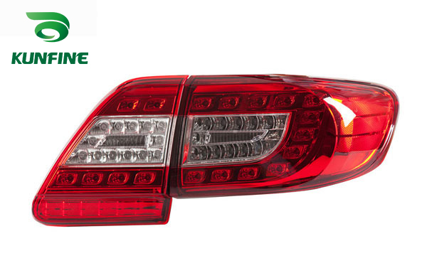 KUNFINE Pair Of Car Tail Light Assembly For TOYOTA COROLLA 2011 2012 2013 LED Brake Light