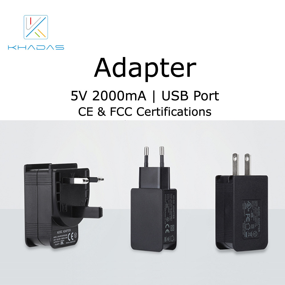 Khadas 5V2A Adapter With CE FCC Certification For All VIMs