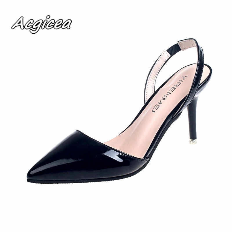 56c732ffb ... 2019 summer Female sandals Pointed Toe high heels Nude color tip with  7cm fine with high ...