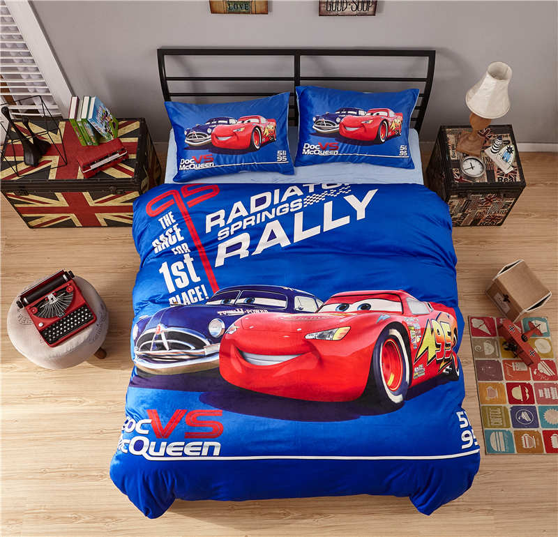 4/5pcs Mcqueen cars print bedding set queen size 3d Disney warm duvet cover twin full boys adult home textile warm bedcover4/5pcs Mcqueen cars print bedding set queen size 3d Disney warm duvet cover twin full boys adult home textile warm bedcover