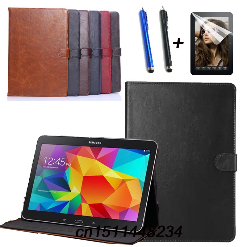 New!Luxury high quality Leather case For Samsung Tab pro 10.1 Cover for Samsung Galaxy Tab pro T520 T521 T525 Tablet Stand Case luxury flip stand case for samsung galaxy tab 3 10 1 p5200 p5210 p5220 tablet 10 1 inch pu leather protective cover for tab3