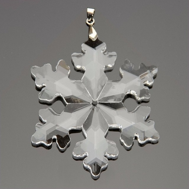 89mm 10pcs clear crystal snowflake healing crystal christmas ornaments for home decoration or car decoration - Crystal Christmas Decorations