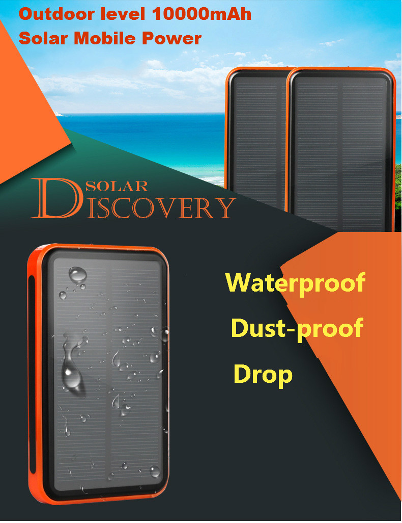 Dual USB Mobile Phone Solar Replacement Battery 30000 mAh Waterproof External Power Supply Solar Panels