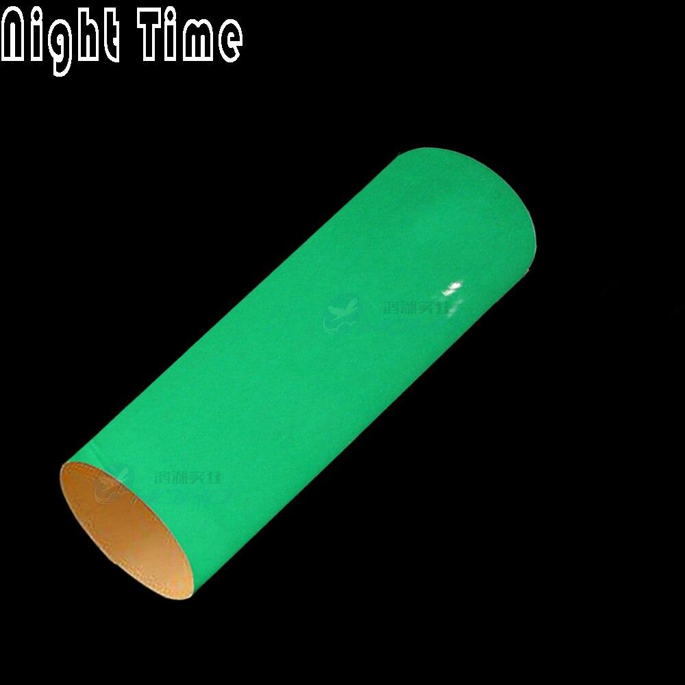 Vert et Bleu couleur pour choisir Luminescent Lueur Dans Le Foncé Enveloppe de Voiture de Vinyle Air Sortie Film1.52x5M