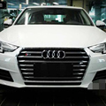 A4 B9 Modified S4 Style Black Front Hood Center Grille Grill for Audi A4 B9 2016UP
