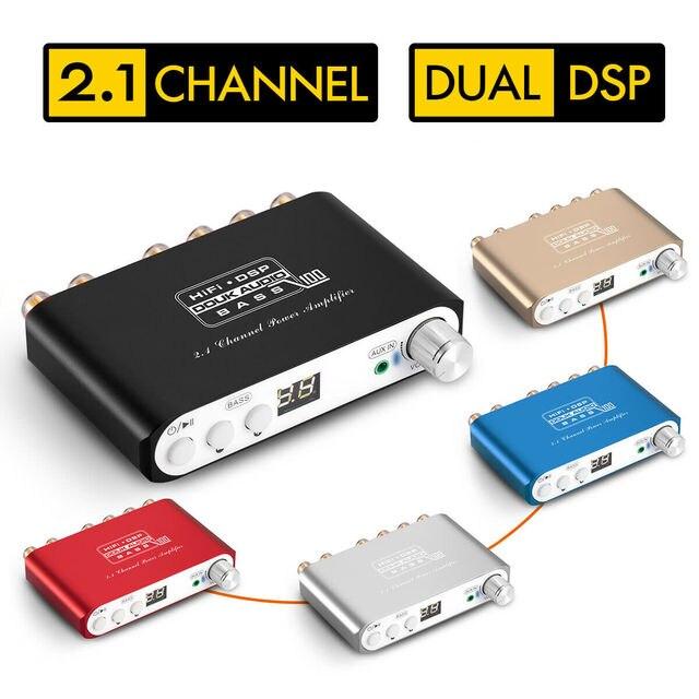 2020 nobsound ミニ hifi 2.1 チャンネルサブウーファー bluetooth 5.0 dsp デジタルパワーアンプステレオベースアンプと 24 v/3A 電源