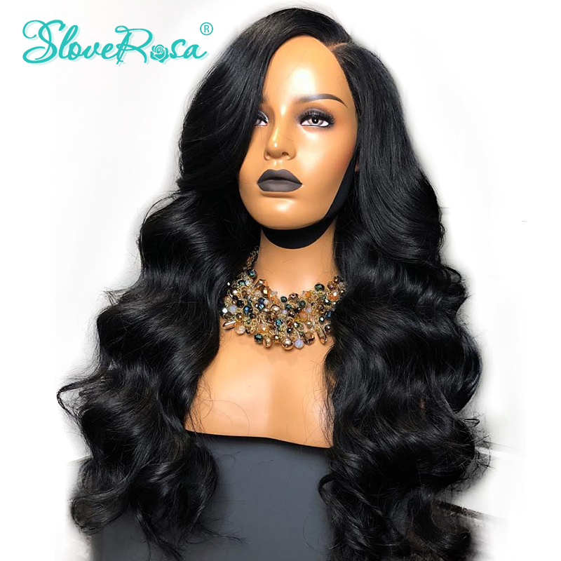 360 Lace Front Wig 150 Density Peruvian Remy Hair Body Wave Human Hair Wig Bleached Knots