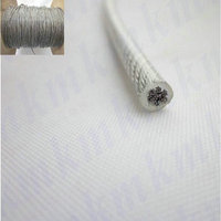 100M Roll Overall Diameter 1 2MM PVC Plastic Coated Stainless Steel Wire Rope 1 0MM Wire