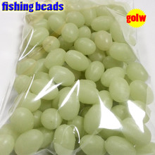 NEW  fihsing plastic luminous fishing beads glow in the dark 2*3 3*4----12*16mm more size choose color is white