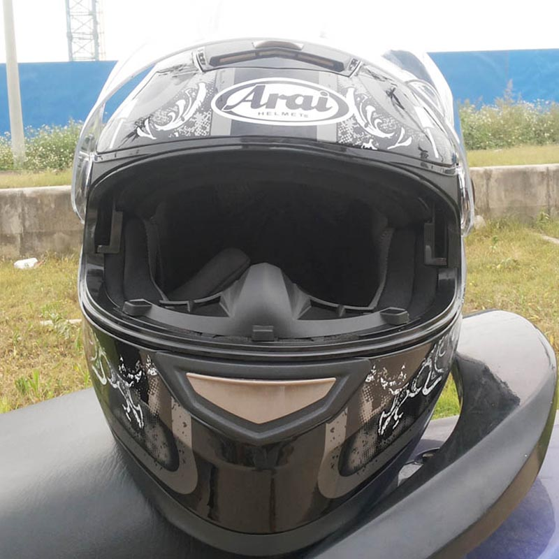 Motorcycle Helmet With Inner Sun Visor Flip Up Helmet Dual Lens for male