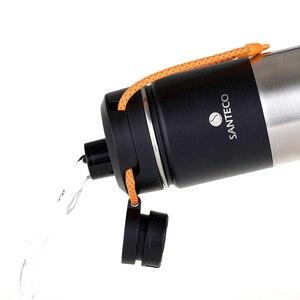 Image 2 - Santeco 500 Ml Giữ Nhiệt Có Dây Treo Tường Đôi Bình Giữ Nhiệt Chân Không Thép Không Gỉ Trà Cà Phê Sữa Du Lịch Nhiệt Bình Quà Tặng Thermocup