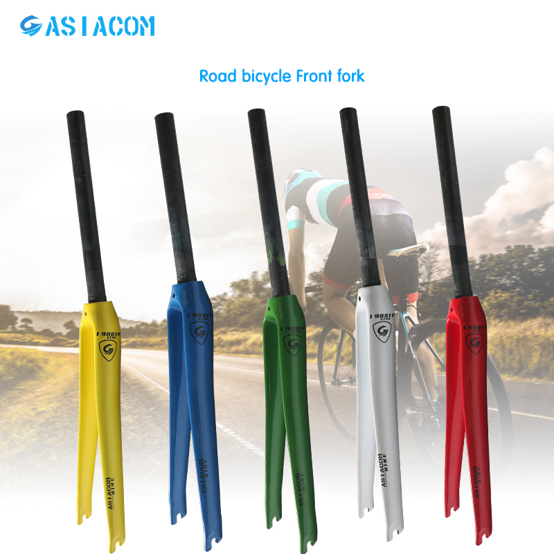 Newest lightest 5 colors ASIACOM Road bicycle full carbon fibre fork hard fork Track Fixed Gear
