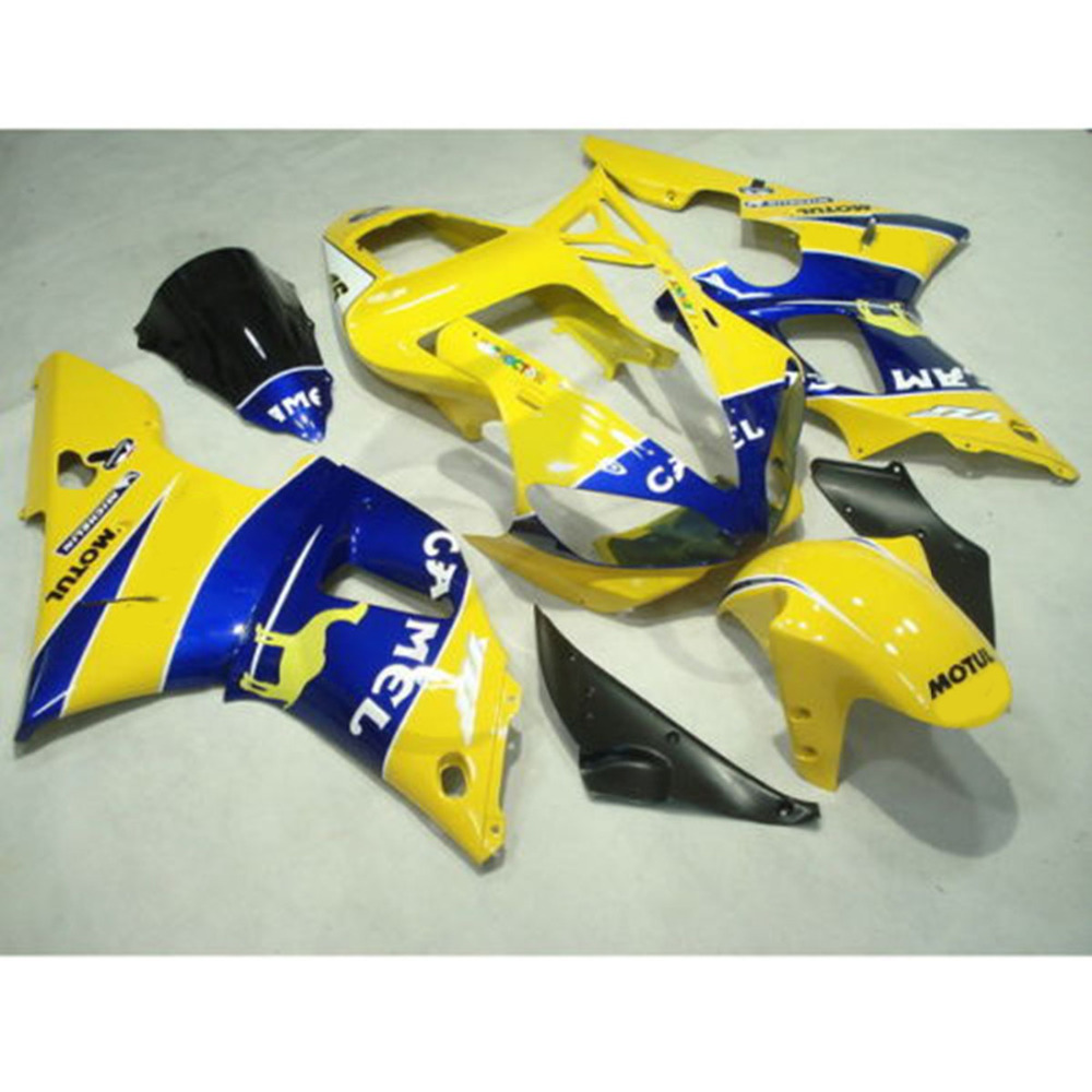 Желтый ABS впрыска Пластиковые Обтекателя кузова для Ямаха YZF-R1 и YZF R1 в 2000-2001