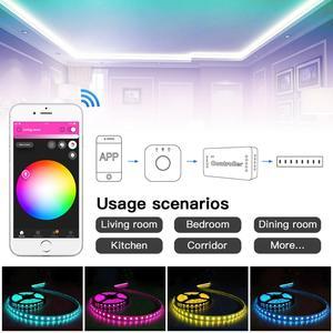 Image 3 - GLEDOPTO ZIGBEE ponte app Ha Condotto Il Regolatore RGBW dimmer Regolatore della striscia DC12/24 V comptible con LED echo zll standard LED