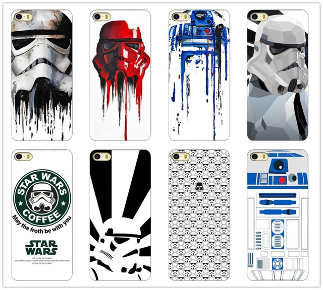 official photos 7ae66 de1f3 US $1.19 |R2D2 Star Wars Coffee Stormtrooper Back Phone Case Cover For  iPhone 4 4S 5 5S on Aliexpress.com | Alibaba Group