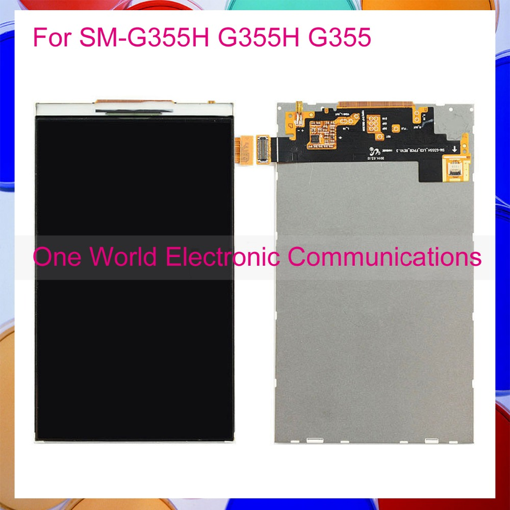 One World Tested 4.5 For Samsung Galaxy Core 2 SM-G355H G355H G355 Phone LCD Screen Display Panel Tracking Code Free Shipping