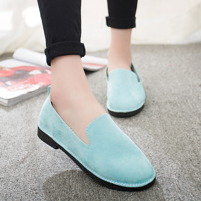 2016 summer women casual Shoes fashion Women Flats leisure Shoes Sapato PU suede Women Loafers Zapator Mujer