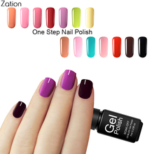Zation Foil Adhesive 3 in 1 One Step Gel Nail Polish Soak Off one phase Lacquer Polish Gel Lacquer Easy Remove Varnish Nail Art