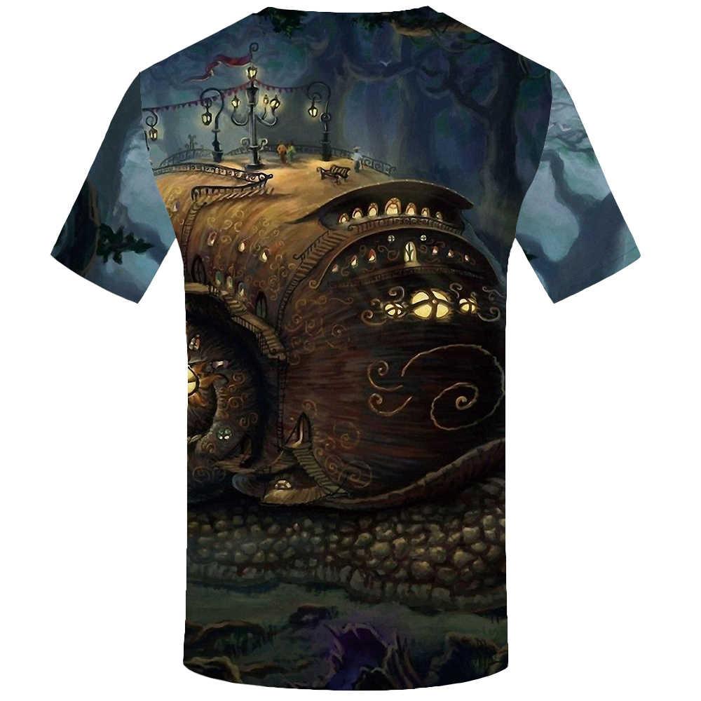 KYKU ยานอวกาศ T เสื้อผู้ชาย TShirt ตลก T เสื้อ Hip Hop TEE Streetwear Mountain 3D เสื้อยืดสีดำ Mens เสื้อผ้า 2018