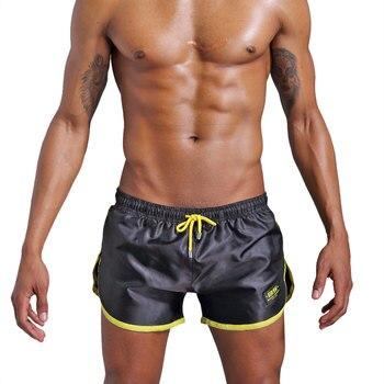 Men's Gym Sport Casual Beach Swim Shorts Swimwear Men Quick Drying Swimsuit Swimming Trunks Fifth Pants Running Shorts Beachwear