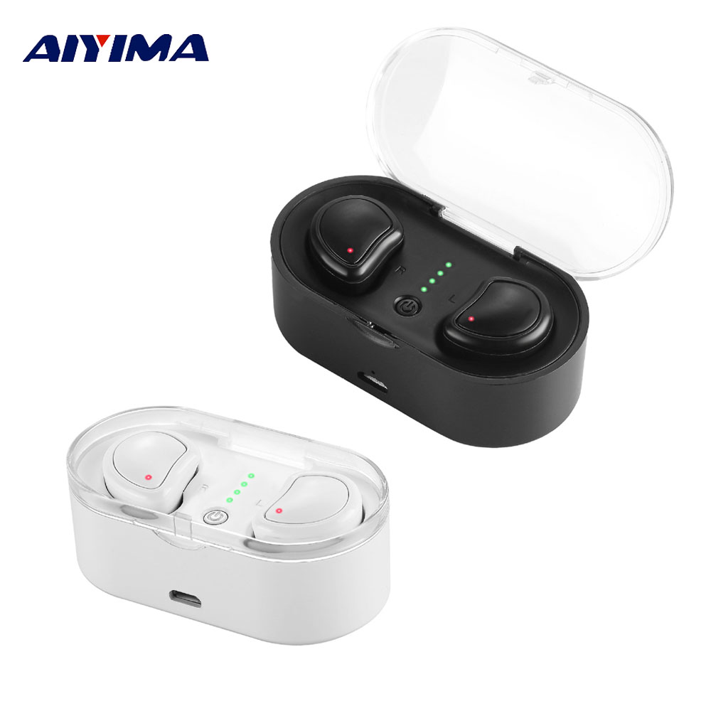 AIYIMA Mini Auriculares Inalambrico Bluetooth Earphone Wireless Earbuds Fone De Ouvido Bluetooth Headset Audifonos Headphones ipx8 bluetooth earphone mp3 bluetooth headphones wireless earphones airpods handsfree ear noise cancelling fone de ouvido