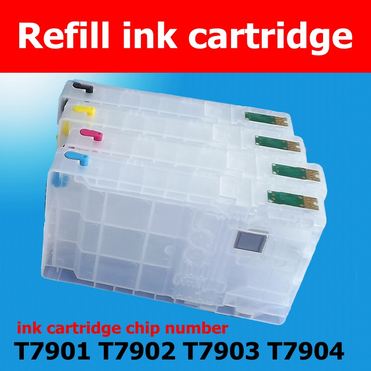 refill ink cartridge WF5620 WF4630 WF5110 WF5690 ARC chip T7901 T7902 T7903 T7904 CIS  System 1 piece t6710 maintenance waste ink tank box for epson workforce pro wp 4530 4540 4020 wf 4630 4640 5690 wf 5190 5620 5110